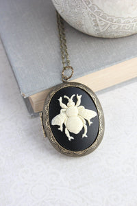 Big Bee Cameo Locket