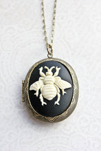 Load image into Gallery viewer, Big Bee Cameo Locket
