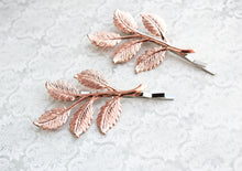 Load image into Gallery viewer, Branch Bobby Pins - Bright Rose Gold