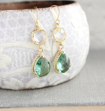 Load image into Gallery viewer, Sparkle Drop Earrings Gold | Clear | Erinite