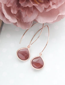 Candy Jewel Earrings - Cherry Brown