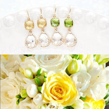 Load image into Gallery viewer, Sparkle Drop Earrings Gold | Clear | Yellow