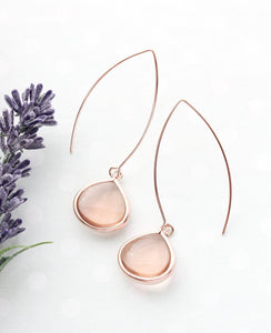Candy Jewel Earrings - Peach Blush /RG