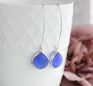 Candy Jewel Earrings - Royal Blue
