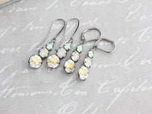 Load image into Gallery viewer, Yellow Rose Cameo Earrings