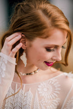 Load image into Gallery viewer, Shabby White Wing Earrings