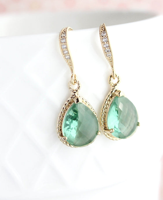 Sparkle Glass Earrings - Erinite
