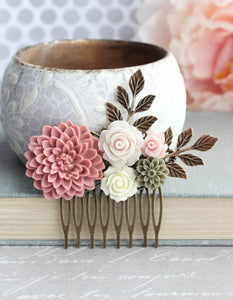 Dusty Rose Comb - C1044