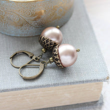Load image into Gallery viewer, Acorn Necklace - Almond Blush