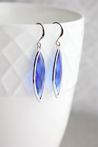 Marquis Drop Earrings - Cobalt