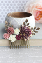 Load image into Gallery viewer, Berry Plum Purple Hair Comb - C1014