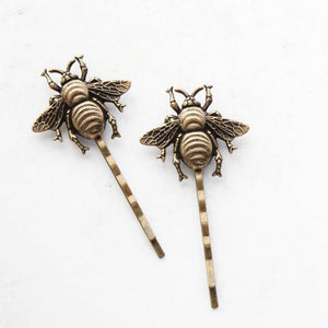 Bee Bobby Pins - Antiqued Brass