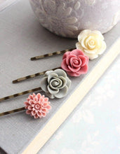 Load image into Gallery viewer, Rose Bobby Pins - BP1015