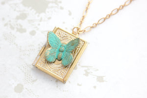 Butterfly Book Locket