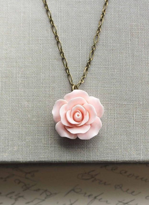 Pink Rose Necklace