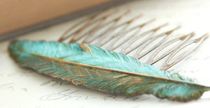 Feather Comb - Verdigris Patina