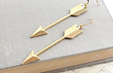 Load image into Gallery viewer, Gold Arrow Earrings - Long