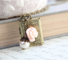 Load image into Gallery viewer, Book Locket - Blush Rose