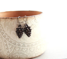 Load image into Gallery viewer, Pinecone Earrings - Dark Patina