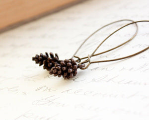 Rustic Pine Cone Earrings