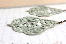 Load image into Gallery viewer, Damask Filigree Earrings - Sage