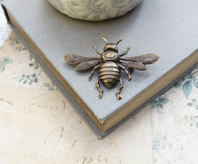 Load image into Gallery viewer, Bee Brooch - Antique Brass