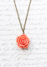 Load image into Gallery viewer, Coral Rose Necklace