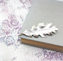 Load image into Gallery viewer, Raw Gold Brass Oak Leaf Bobby Pin