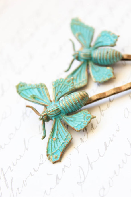 Butterfly Bobby Pins - 2 pieces