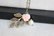 Load image into Gallery viewer, Pink Rose Charm Necklace