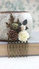 Load image into Gallery viewer, Rustic Floral Comb - C1030