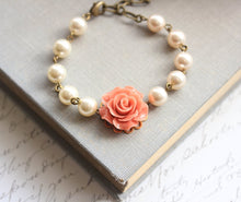 Load image into Gallery viewer, Coral Rose Bracelet