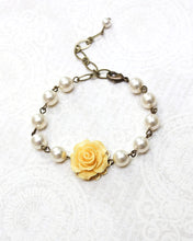 Load image into Gallery viewer, Yellow Rose Bracelet