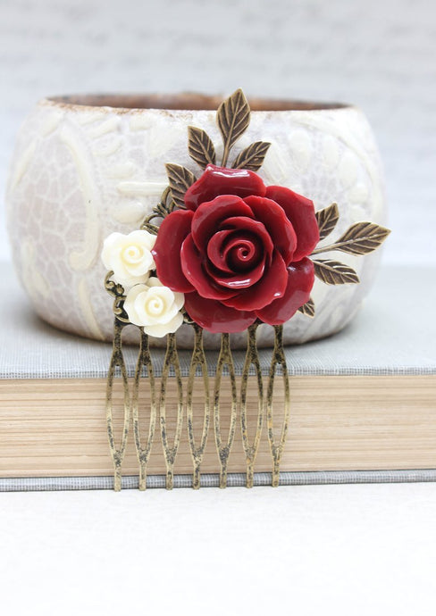 Red Rose Comb - C1049