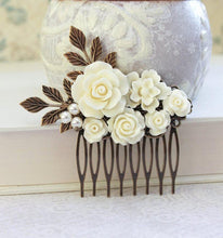 Load image into Gallery viewer, Floral Bridal Hair Comb - C2020