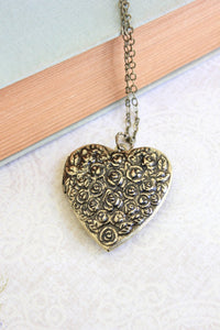 Large Heart Locket - Floral