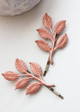 Load image into Gallery viewer, Copper Branch Bobby Pins - 2 PC
