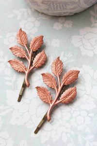 Copper Branch Bobby Pins - 2 PC