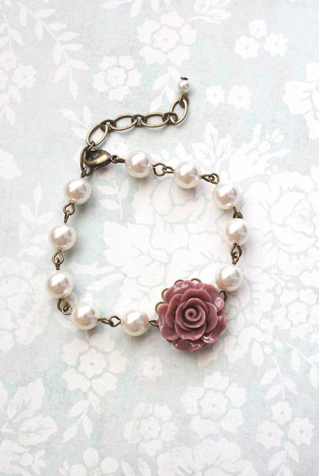 Dusty Rose Pink Bracelet