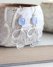 Load image into Gallery viewer, Silver Loop Earrings - Periwinkle
