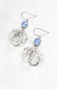 Silver Loop Earrings - Periwinkle