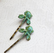 Load image into Gallery viewer, Iris Bobby Pins - Verdigris