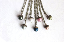 Load image into Gallery viewer, Pearl Acorn Necklace (16 Colors)
