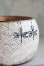 Load image into Gallery viewer, Little Dragonfly Earrings - Silver