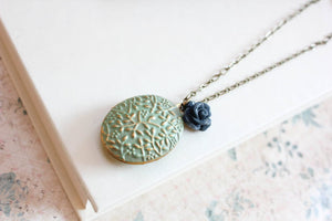 Locket Necklace - Sage Green
