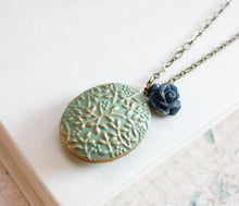 Load image into Gallery viewer, Locket Necklace - Sage Green