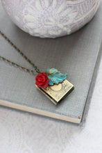 Load image into Gallery viewer, Book Locket - Red Rose