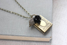 Load image into Gallery viewer, Book Locket - Black Rose