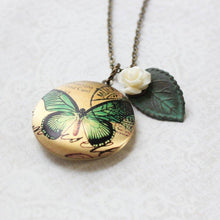 Load image into Gallery viewer, Butterfly Locket Necklace