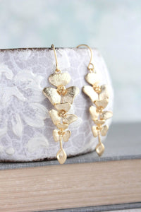 Orchid Earrings - Gold and Silver